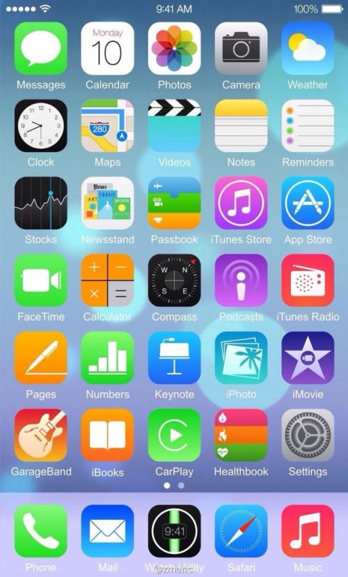 bgr zmeric iOS 8 Homescreen