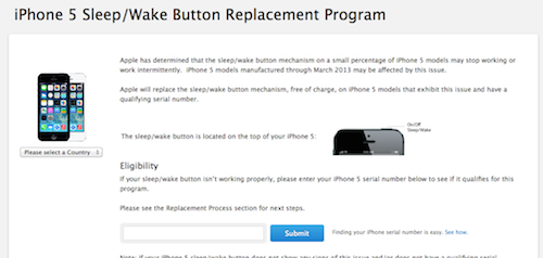 iPhone 5 Sleep Wake Button Program