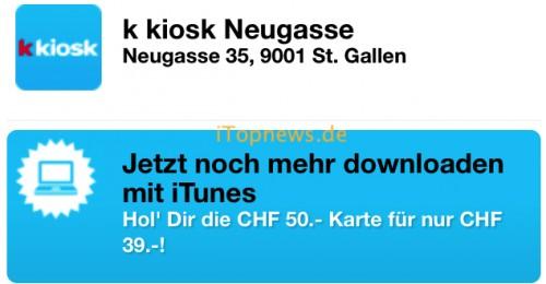 iTunes Karten Schweiz Roger