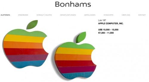 Apple Logo Auktion Bonhams