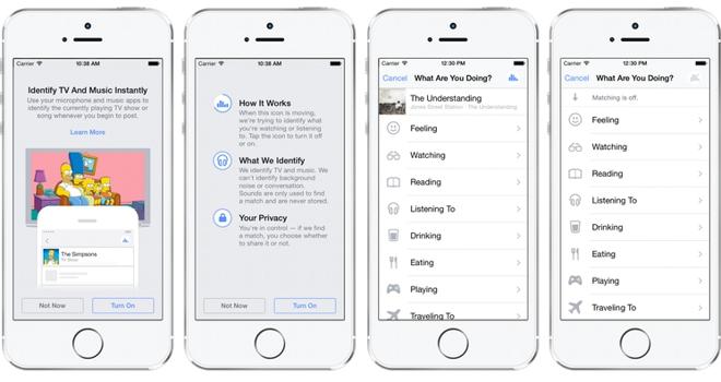 Facebook app erkennt jetzt tv sendungen und musik