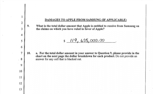 Gerichtsurteil 119 Mio Samsung Apple Jury