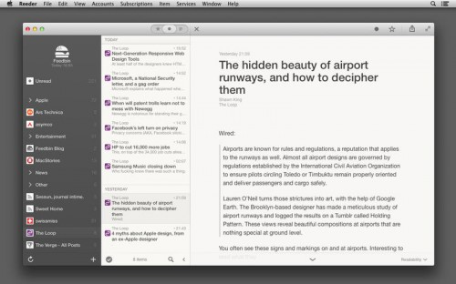 Reeder 2 Screen1
