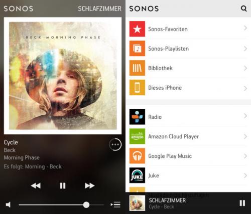 Sonos Controller screen1