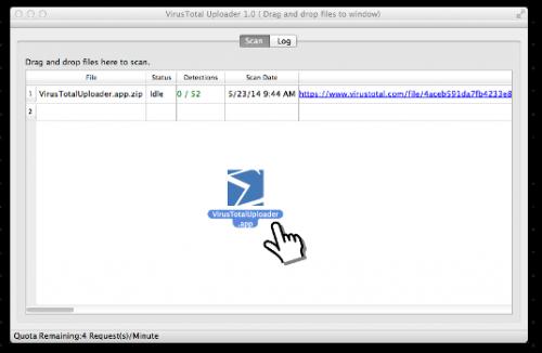 VirusTotal Uploader Bild