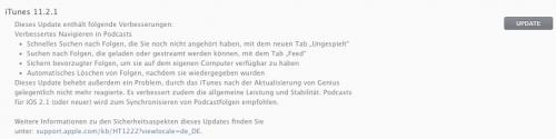 iTunes 11.2.1 Update