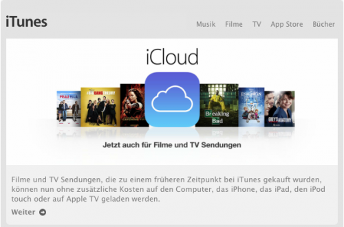 iTunes in the Cloud Filme TV