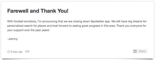 Abschied Spotsetter Blog