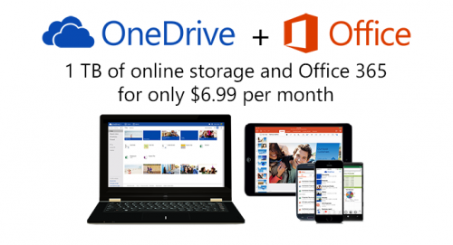 OneDrive Update 1TB Speicher