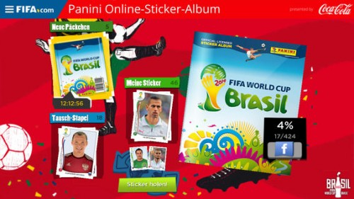 Panini Online Sticker Album Screen1