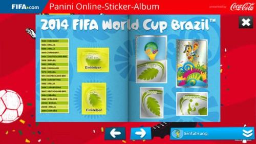 Panini Online Sticker Album Screen2
