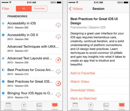 WWDC Sessions App