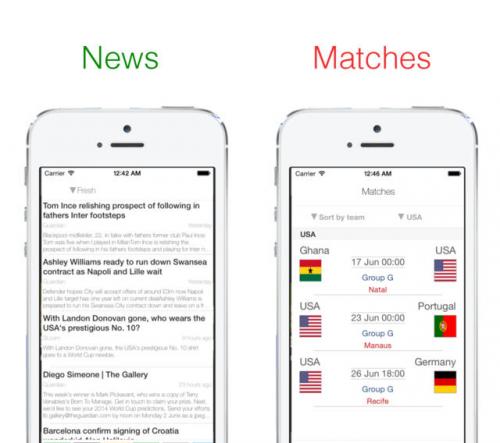 World Football App 2014 Screen1