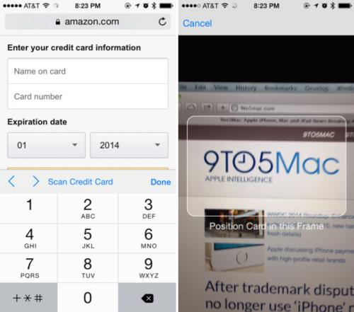iOS 8 Kreditkarte lesen