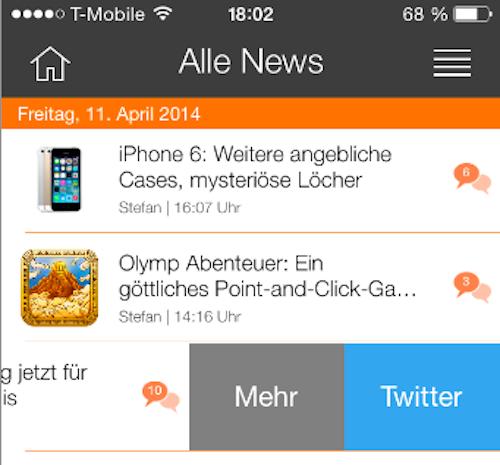 iTopnews 4.0 Update Ansicht 2