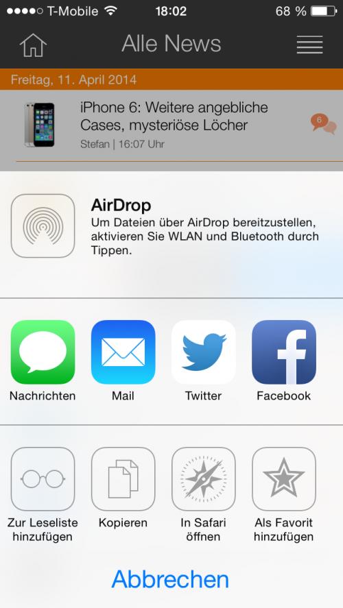 iTopnews Update 4.0 Filter Menue rechts oben
