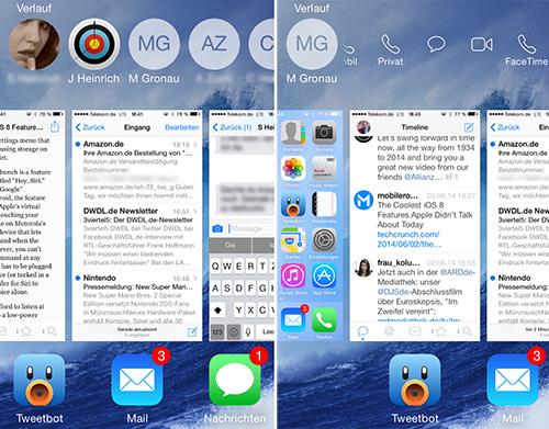 Wahlwiederholung iOS 8