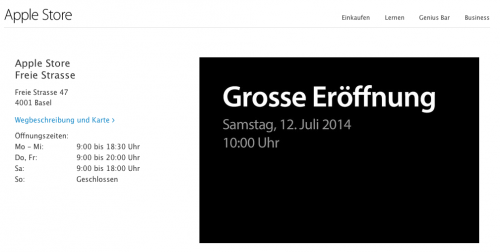 Apple Store Basel Start
