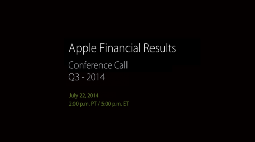 Conference Call Apple Zahlen