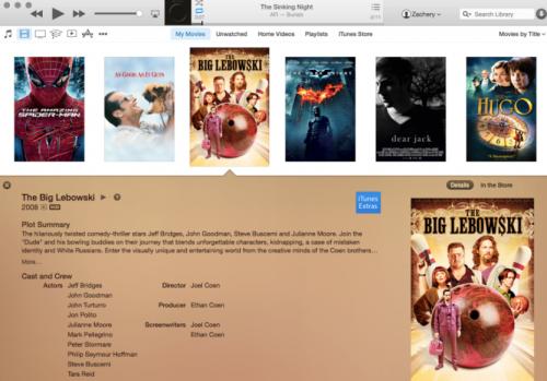 Filme iTunes 12