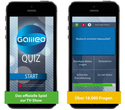 Galileo das Quiz Screen1