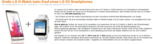 LG G 3 G Watch Aktion Amazon