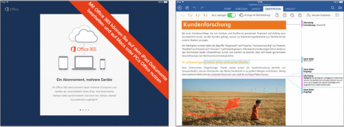 Microsoft Word Office iPad