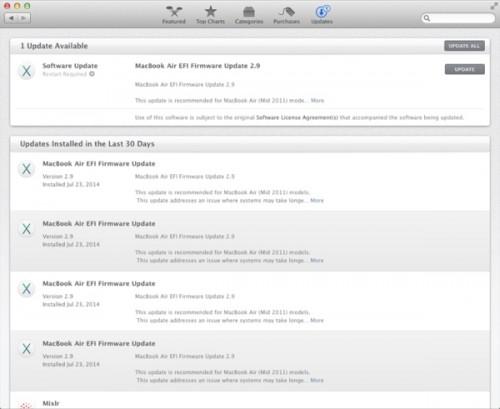 OS X EFI Update Probleme Bild