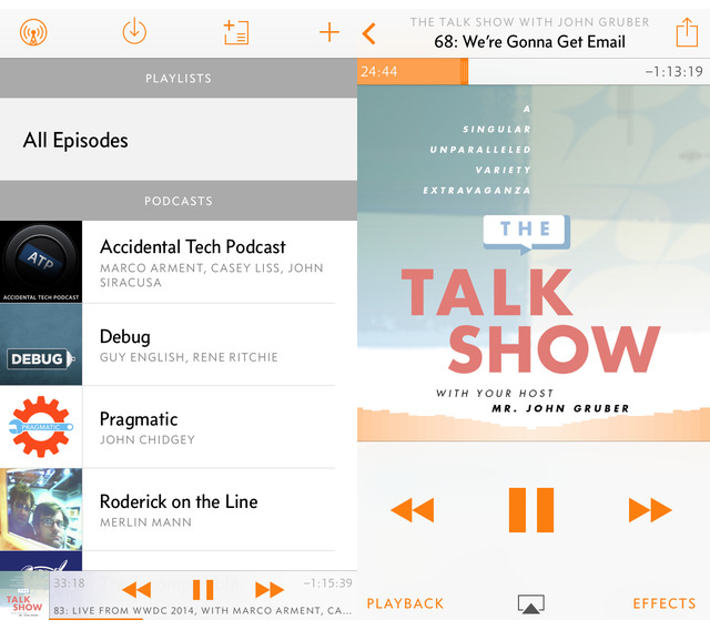 Overcast Podcast Player Screen1