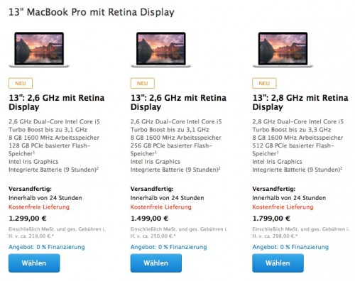 Retina MacBook Pro neu
