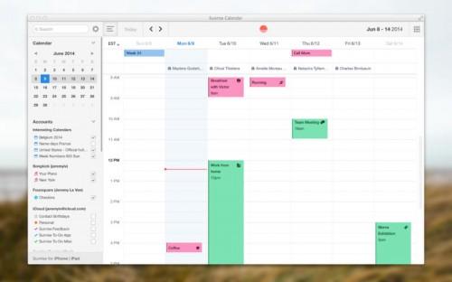 Sunrise Calendar Mac Screen1