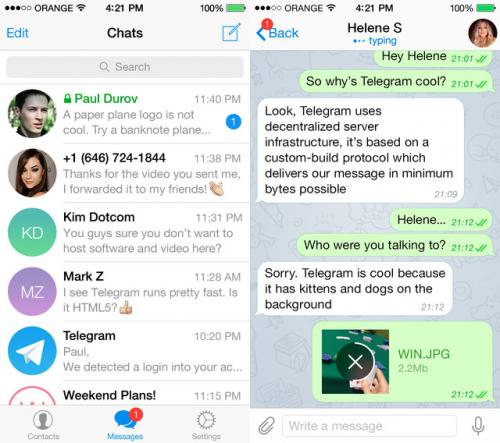 Telegram HD Screen1