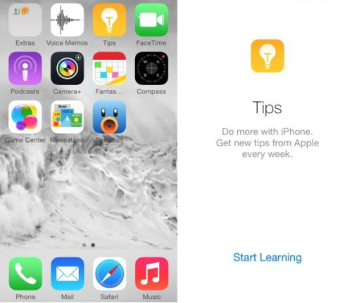 Tips App iOS 8 Beta