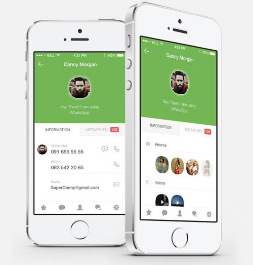 WhatsApp iOS 8 Konzept