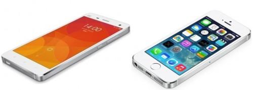 Xiaomi Mi4 iPhone 5S