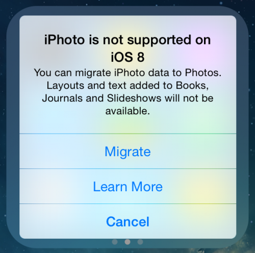 iPhoto iOS 8