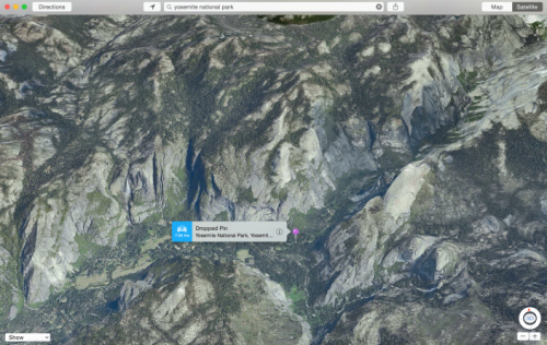 Apple Maps 3D Yosemite