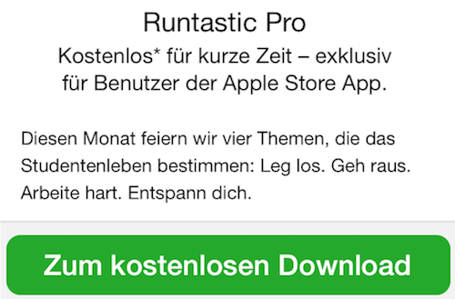 Apple Store App gratis Runtastic