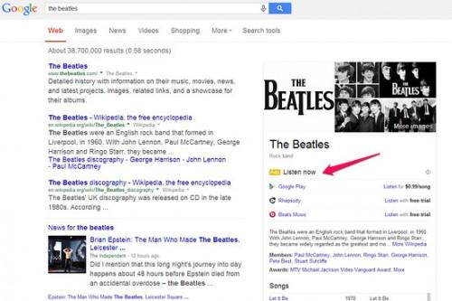 Google Musik Werbung