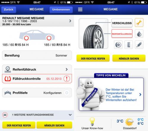 Michelin MyCar Screen1