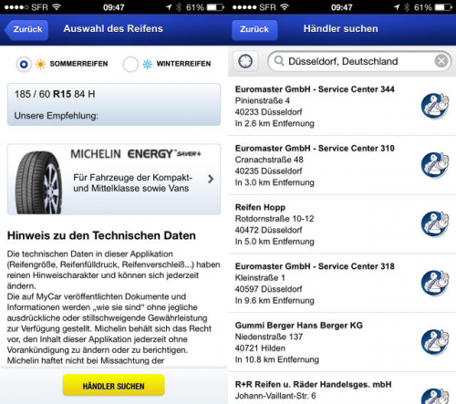 Michelin MyCar Screen2