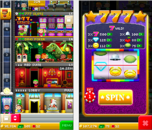 Tiny Tower Vegas Ansicht