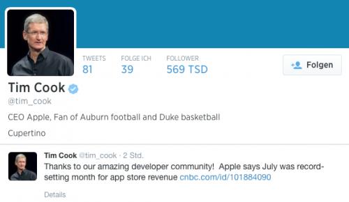 Twitter App Store Juli Tim Cook