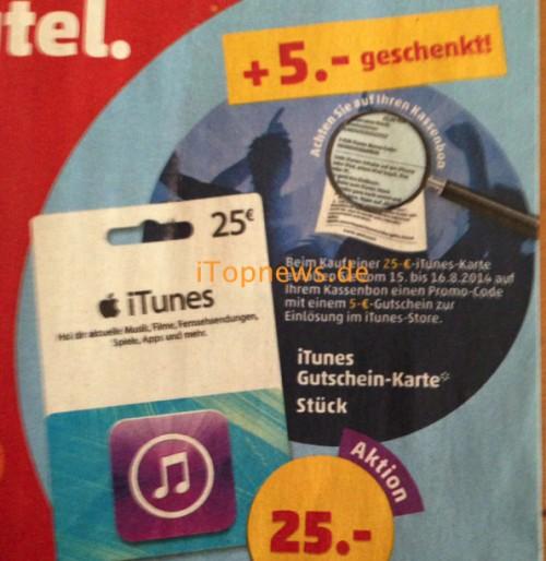 iTunes Karte Penny 5 Euro Gutschein rolf