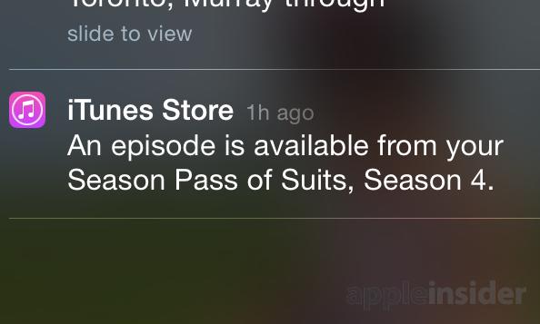 iTunes Staffelpass Push