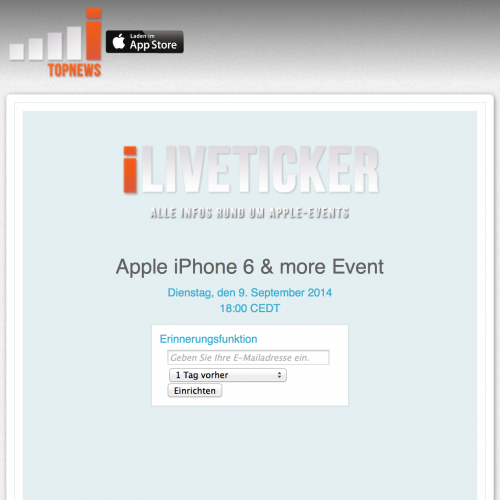 Apple Event iPhone 6 Liveblog Liveticker