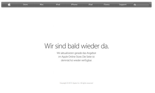 Apple Store Down iPhone6
