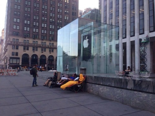 Apple Store NY iPhone 6 erste Fans