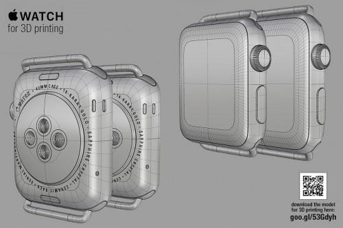 Apple Watch 3D Modell Hajek