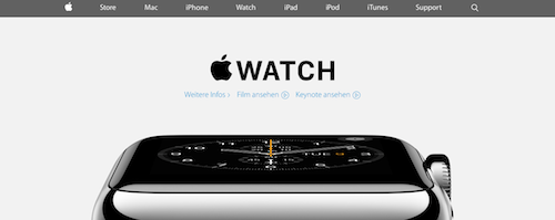 Apple Website neu Design